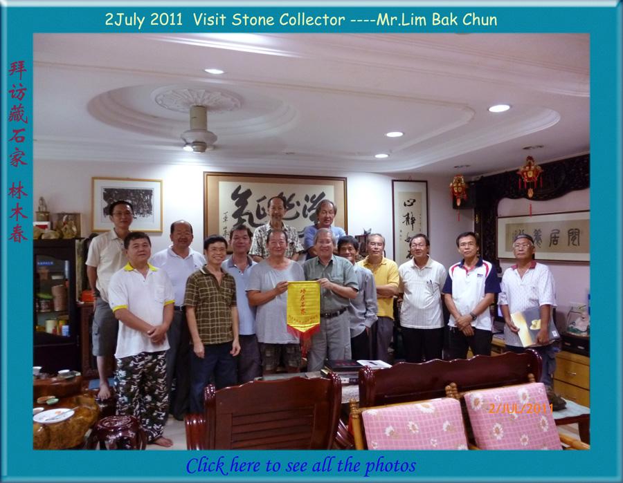 Visit stone collector MR LIM