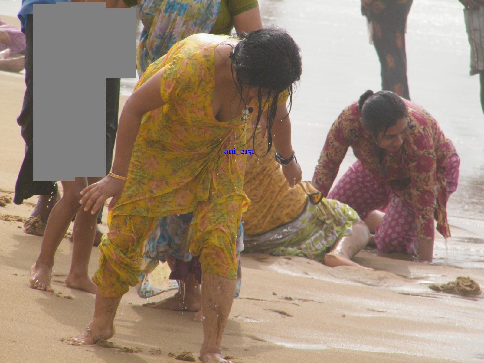 Ganga river bathing women naked