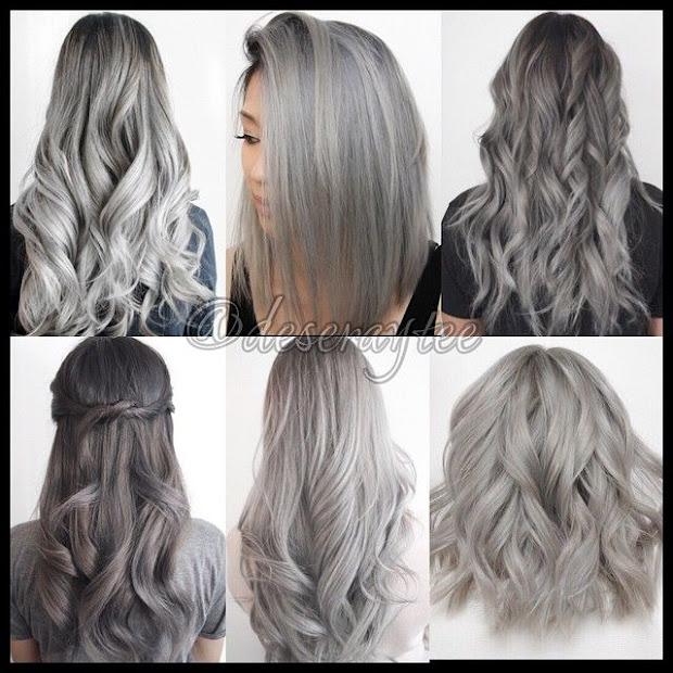 silver - grey gorgeous hairstyles