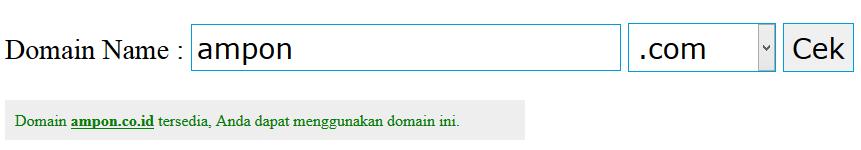domain ampon.co.id masih kosong, ayo di order...