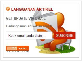 Cara Memasang widget Feedburner Berlanggan artikel Sidebar Blog