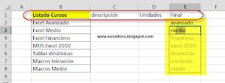 Relleno rápido automático para Excel 2013.