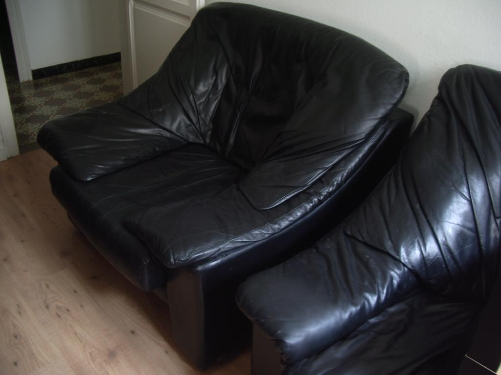 Muebles de Oficina de Segunda Mano: Sofá de piel + sillón ...