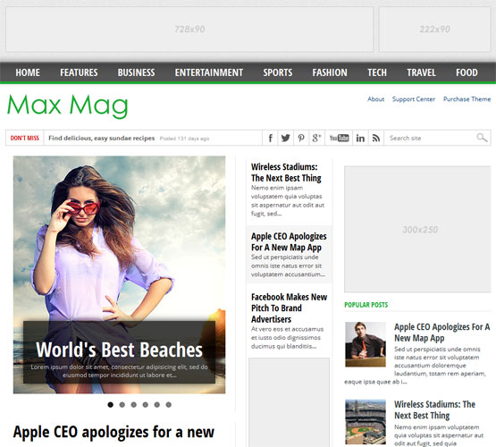 maxmag responsive blogger template