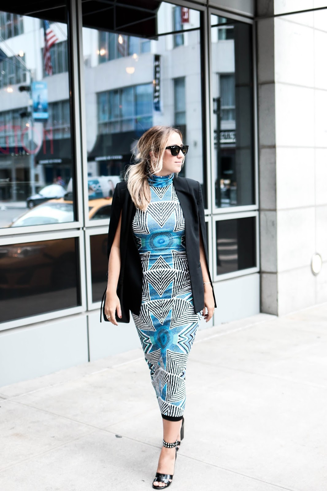 mara hoffman, shopstyle, print, blue, star basket, midi dress, sleeveless, new york, fashion week, street style, ss16, outfit, style, blogger, dc, fashion
