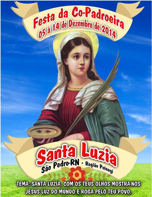 PROGRAMAÇÃO DA FESTA DE SANTA LUZIA