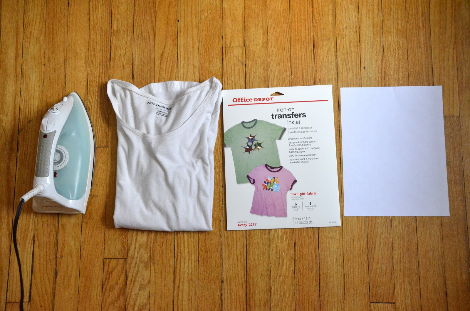 How to use heat inkjet transfer paper to make your own t for Create your own iron on transfer for t shirt