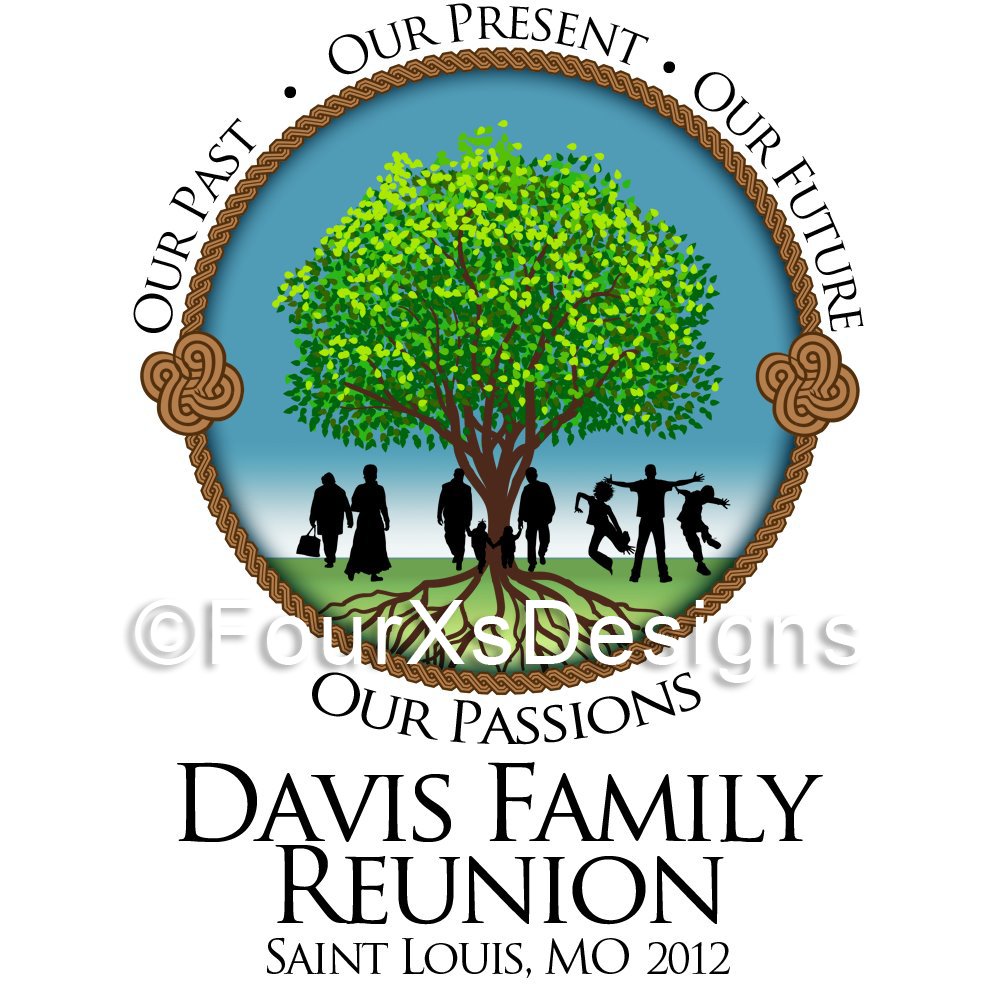 FourXDesigns: Logo: Davis Family Reunion