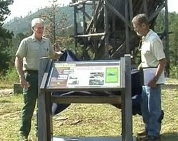TRAIL MARKER UNVEILED NEAR OLD MINE