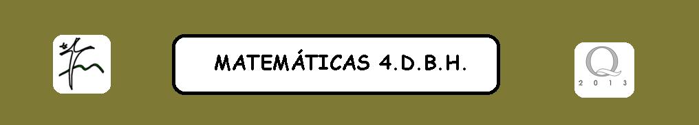 MATEMÁTICAS-4.DBH