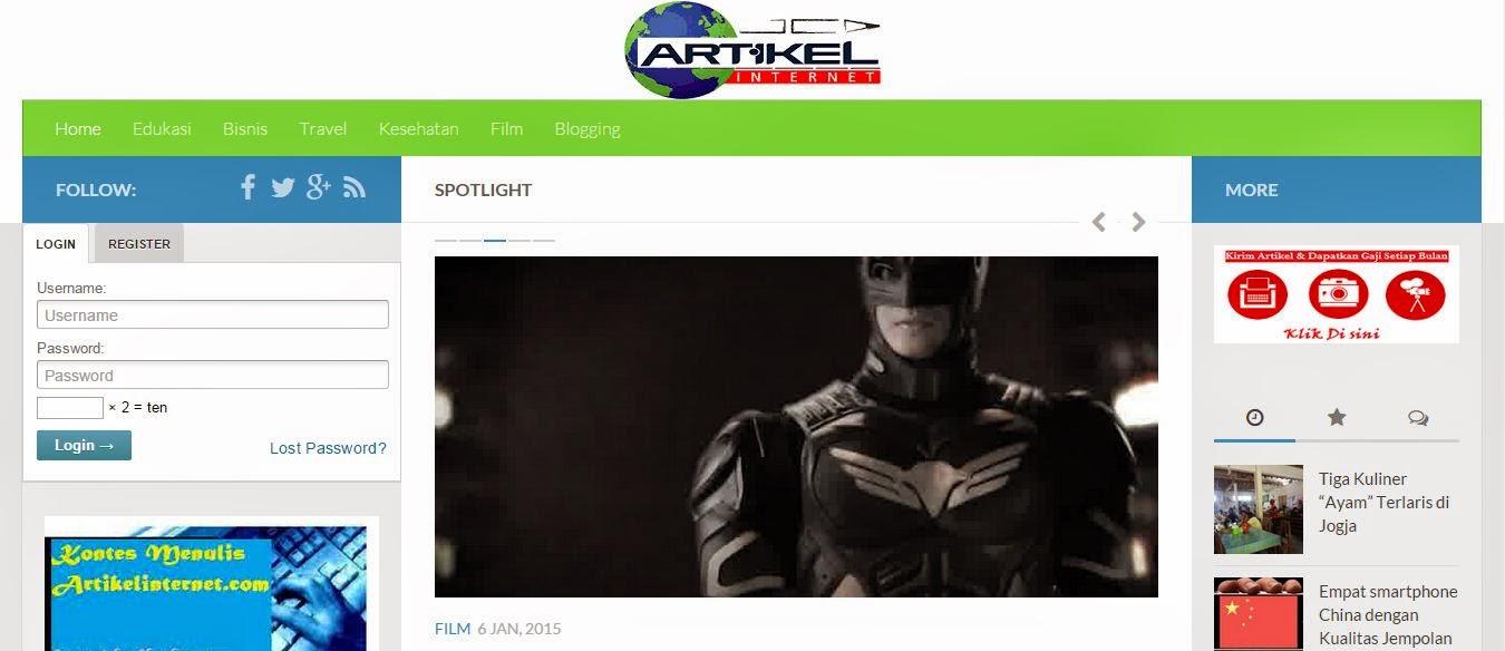 Homepage ArtikelInternet.com