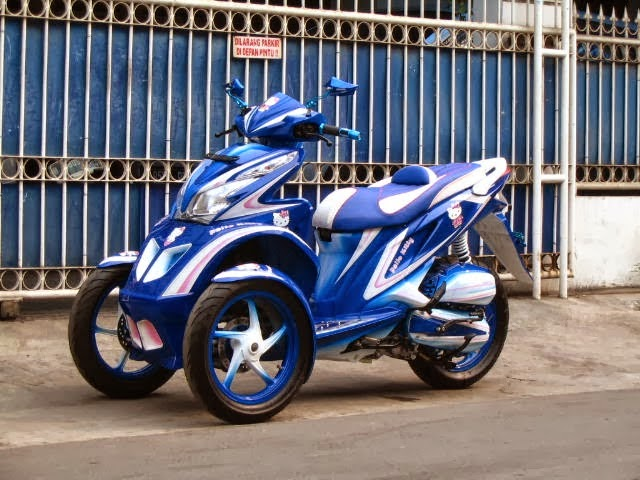 Modifikasi Honda Spacy Tiga Roda