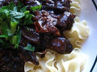 Vegetarian Mushroom Bourguignon | Lisa's Kitchen | Vegetarian Recipes ...