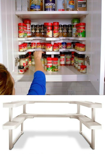 Spicy Shelf for organizing spices :: OrganizingMadeFun.com
