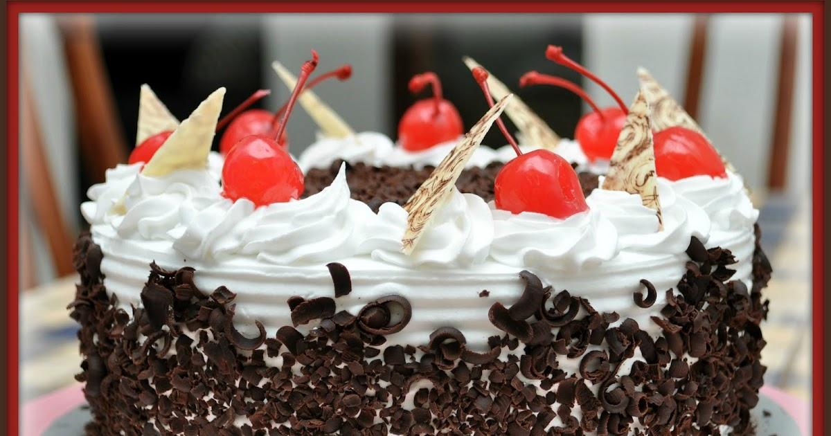 Aku Zack Cakery Cara Menghias Kek Fresh Cream Kek Black Forest