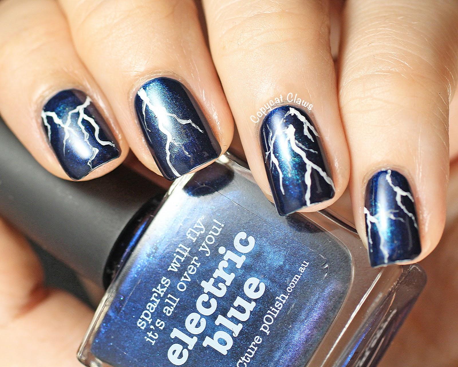 Nail Art On Dark Blue Nail Polish: Born pretty store navy blue shiny ...