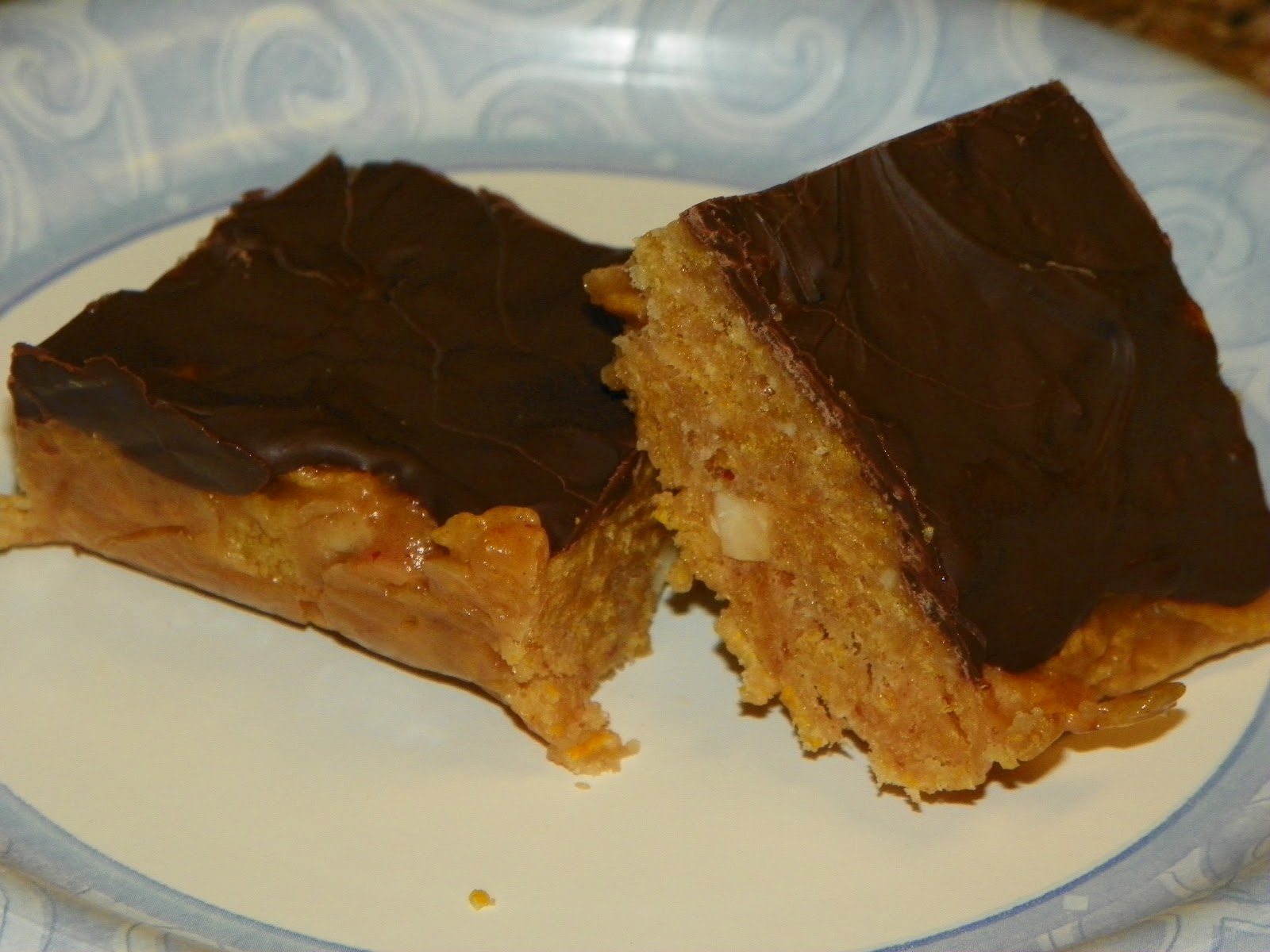 Valerie's Recipe Box: Corn Flakes Peanut Butter Bars