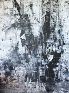 """Night Music abstract painting by Karri Allrich, 48x36"""" acrylic on gallery wrap canvas."""