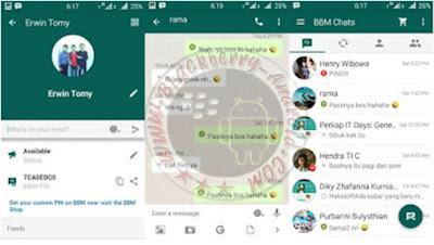 Ubdate BBM Mod Tema WhatsApp Terbaru v2.10.0.31 Apk Clone