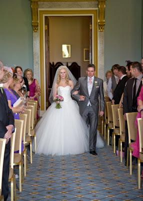 Proud Dad walks bride down the aisle