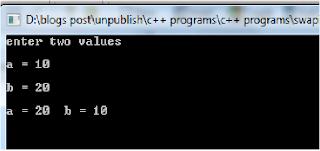 C program to swap