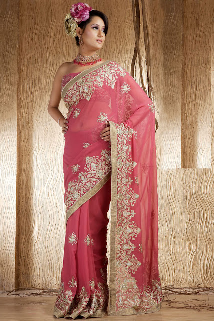 Latest Indian Bridal Saree Sari Fashion Design Tedlillyfanclub