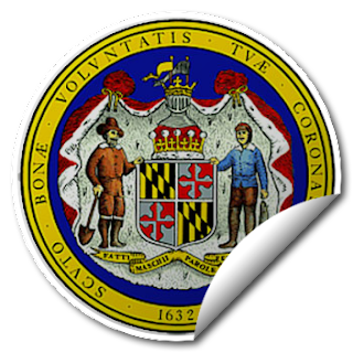 Sticker of Maryland Seal