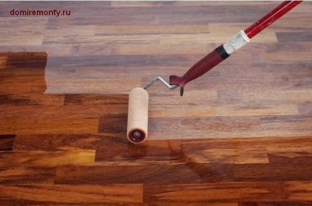 Защищаем окрашенный деревянный пол (паркет) лаком