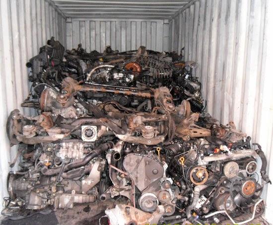 прямая контейнерная перевозка запчастей из Германии
