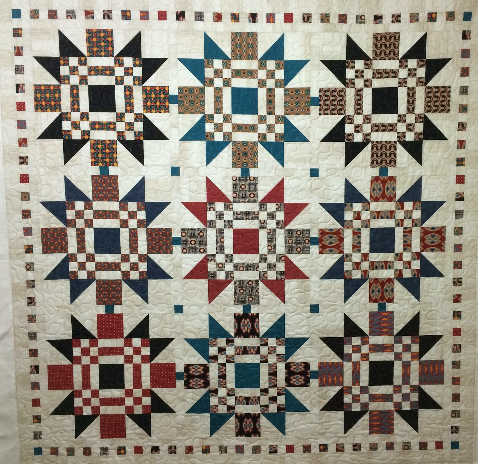 Mette Brown Christmas Quilt