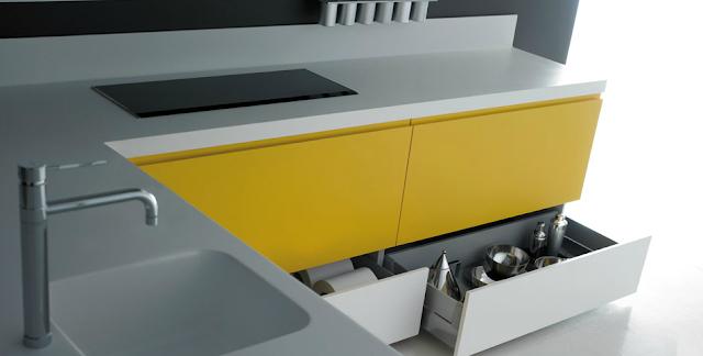 El amarillo en la cocina tambi n luce cocinas con estilo - Cocinas amarillas ...