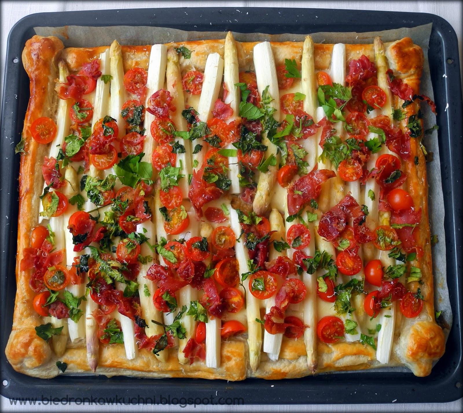 szparagi, ciasto francuskie