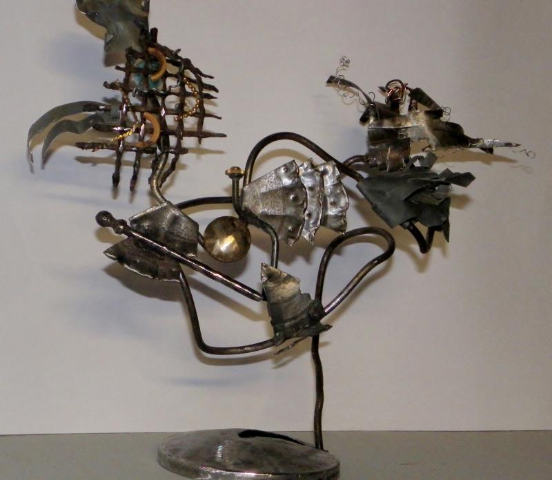 Sculpture métal Miss Galinette