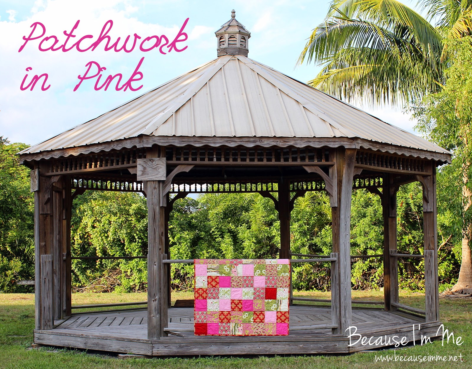 Small Pink Patchwork Girls Quilt
