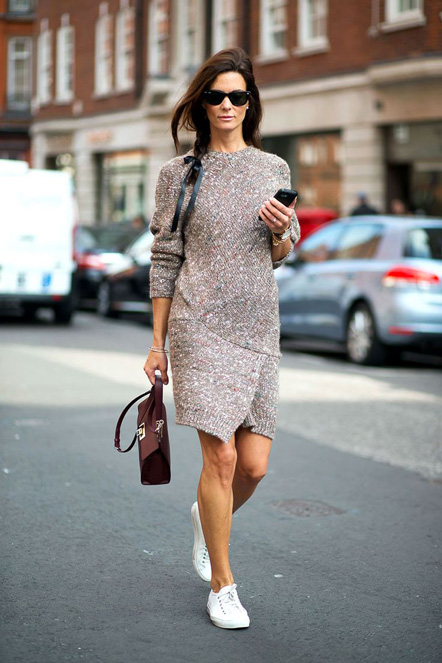 sweater dress trend