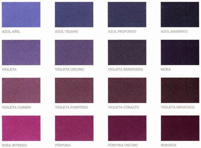 De pendientes paleta de color morado for Paleta de grises para paredes