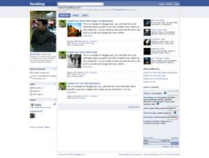 Template Blog Jejaring sosial Facebook
