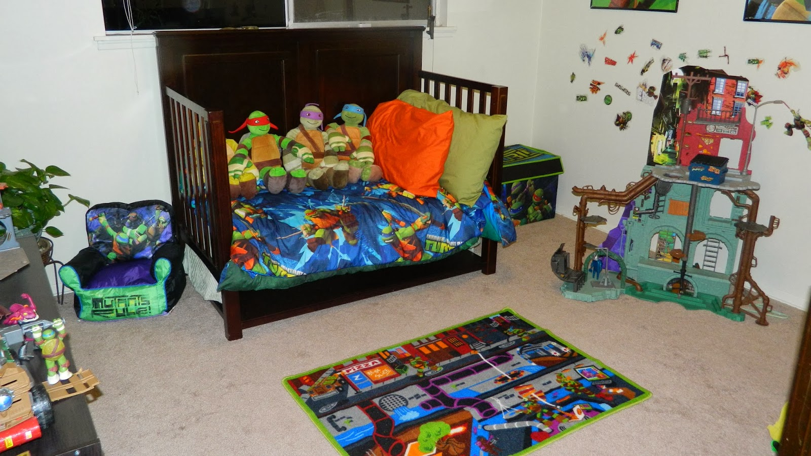 Ninja turtle bedroom - How We Turned My Son S Room Into An Epic Tmnt Room