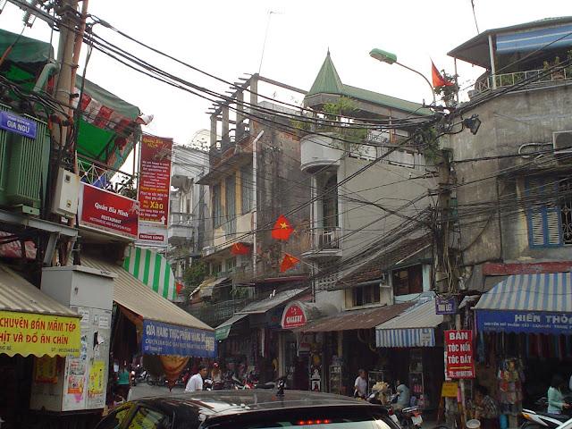 Discover Vietnam. Cables in Hanoi, Vietnam