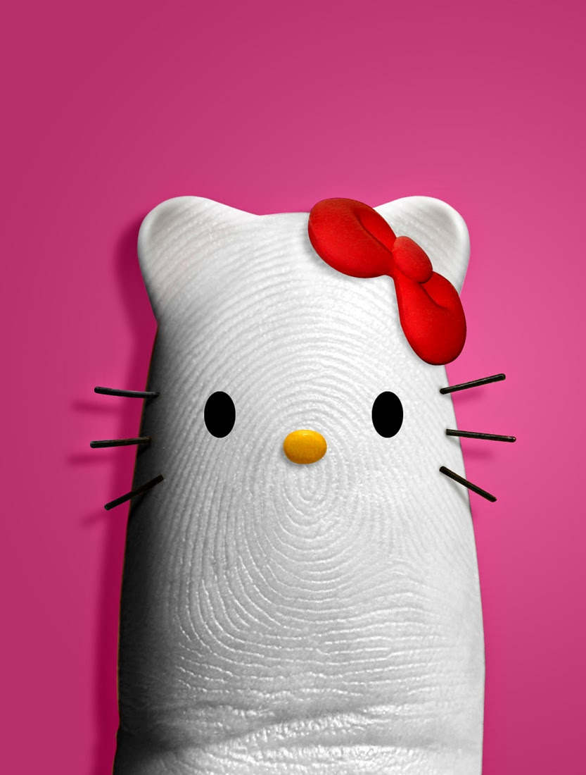 08-Hello-Kitty-Dito-von-Tease-Portraits-on-a-Finger-www-designstack-co