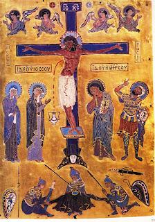 Crucifixion byzantine gold panel fifth sixth century residenz treasury mumich