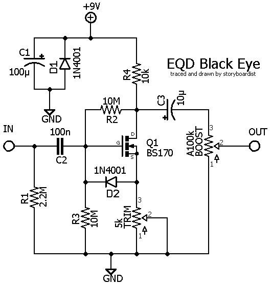 perf and pcb effects layouts  earthquaker devices black eye