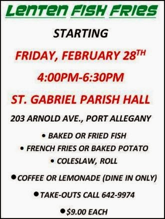 3-14 Fish Fry At St. Gabriel