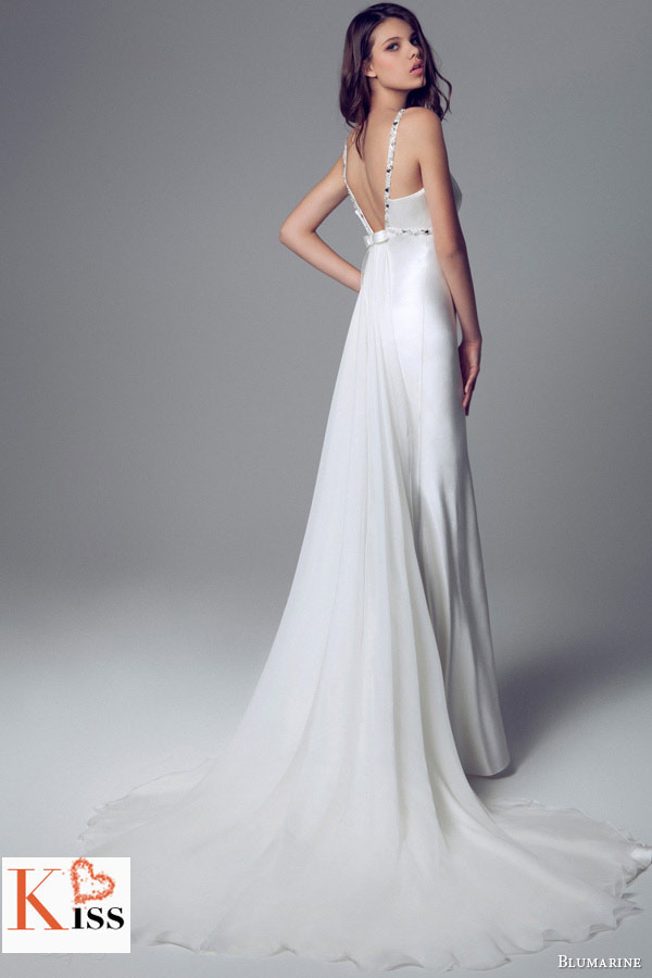 Simple Mermaid 2014 Wedding Dresses Collection From Blumarine