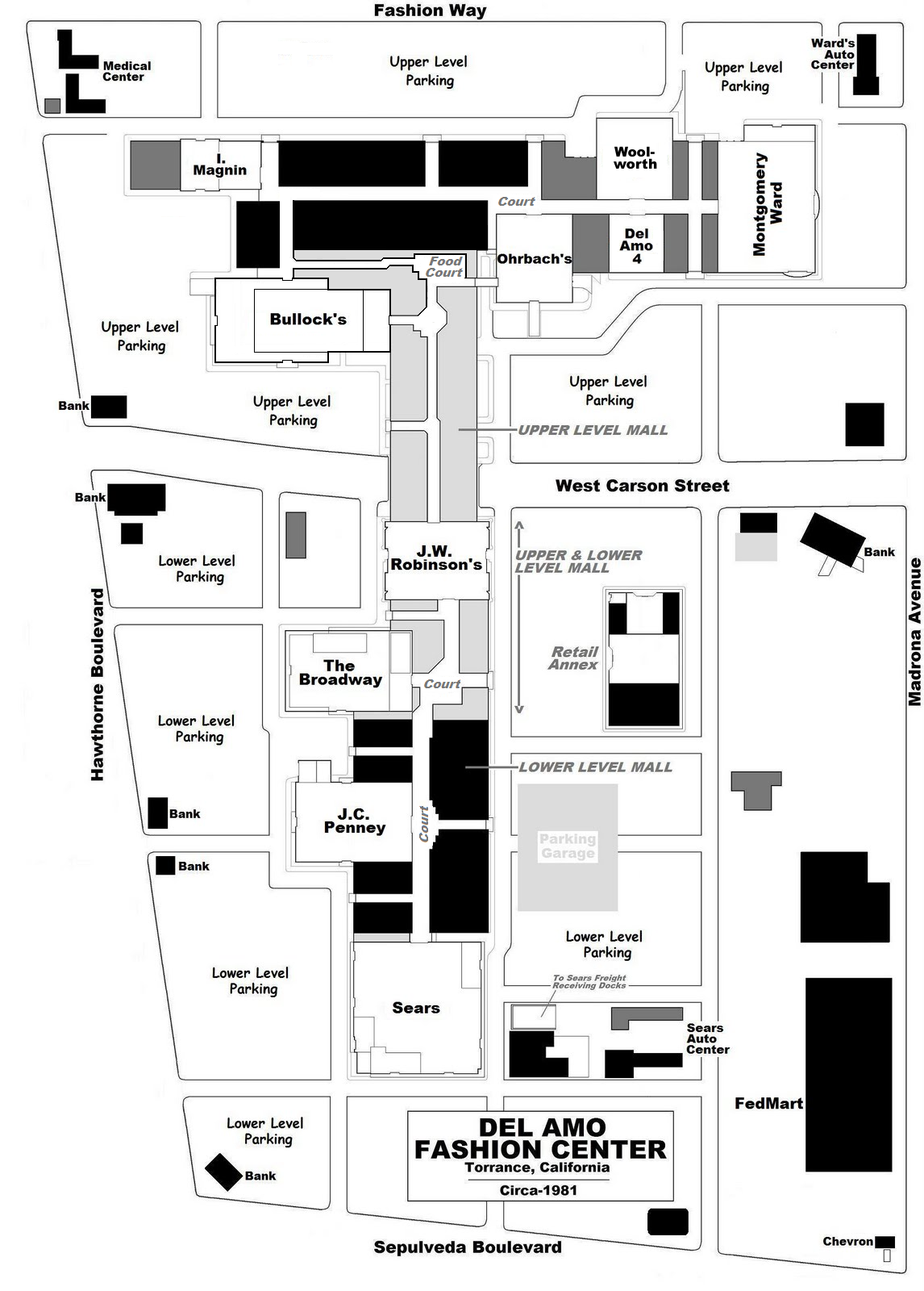 Site Map Of Macys Fashion Square