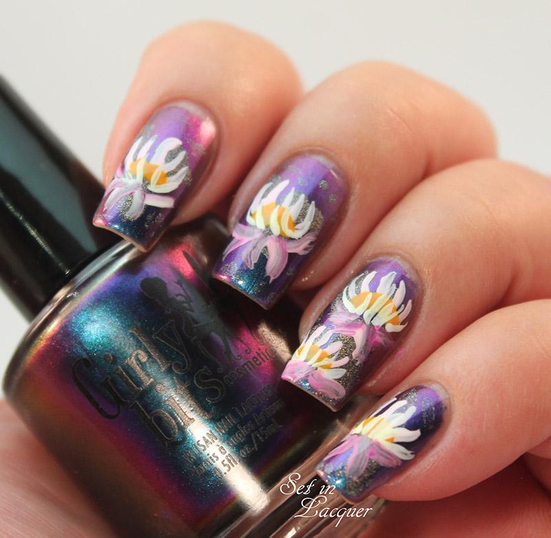 Water Lily Nail Art