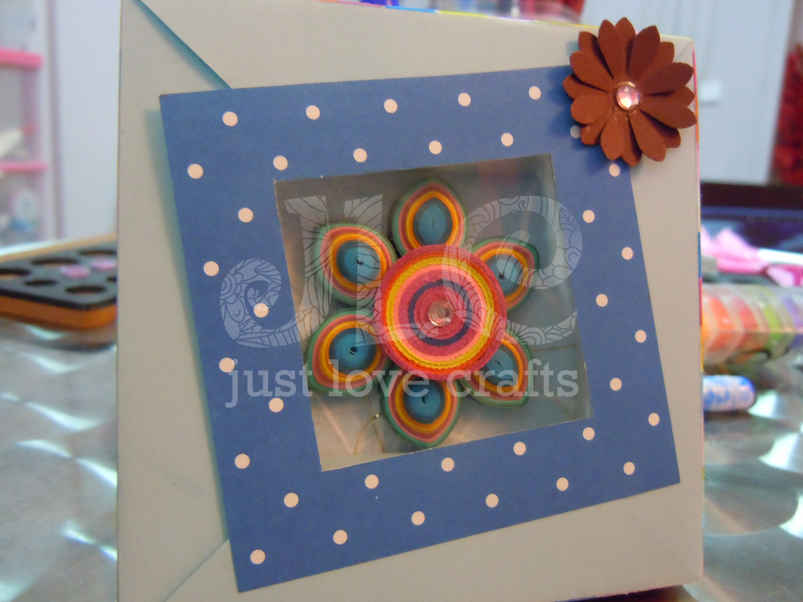 Just love crafts the reason it appears smaller than the others is that the width of this frame is more than the other boxes i have made and is perfect to hold a pretty 3 d jeuxipadfo Choice Image