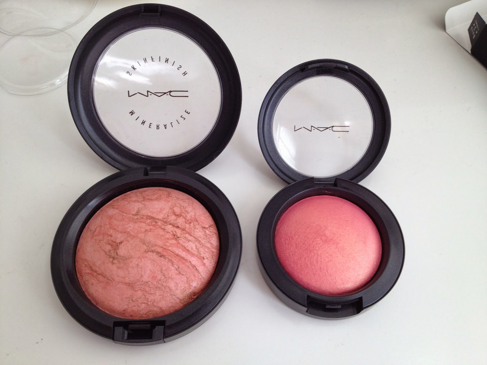 MAC Mineralize Blush In Petal Power & MAC Skin Finish in Stereo Rose