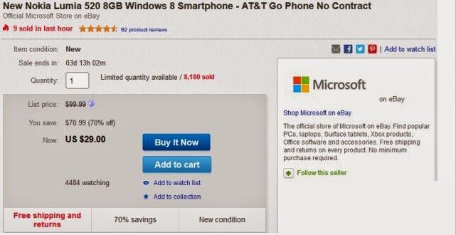 Microsoft Jual Lumia 520 Rp 360 Ribu (Diskon 70%)