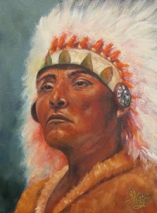"Akecheta ""Warrior"" Sioux Chief portrait"